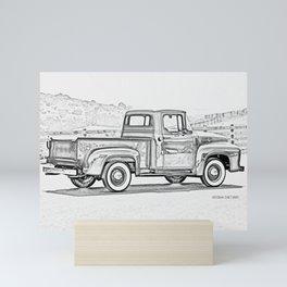 1956 F0RD F100 Pickup Truck Mini Art Print