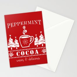peppermint cocoa Stationery Cards