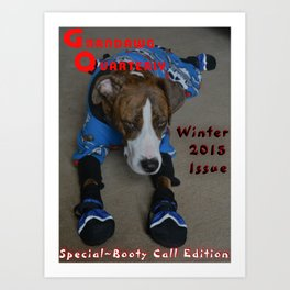 Snow Dawg Bootie Call Art Print