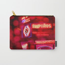 Red Neon Carry-All Pouch
