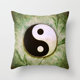 Yin Yang - Grass Moon I Throw Pillow