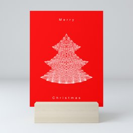 White Christmas Tree Mini Art Print
