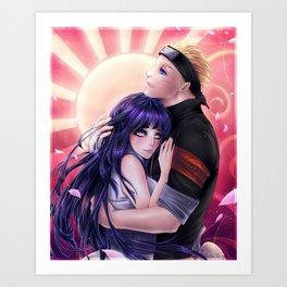 NaruHina Eternal Bond Art Print