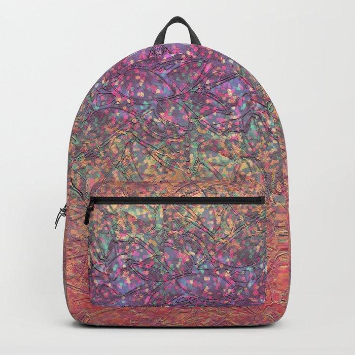 Sparkley Grunge Relief Background G179 Backpack