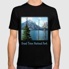 Grand Teton national Park landscape photography Mens Fitted Tee Black MEDIUM