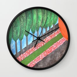 Ten Religious Abstract Art By Saribelle Rodriguez Wall Clock