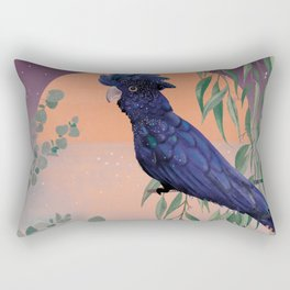 Blue parrot Rectangular Pillow