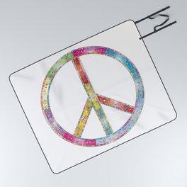 flourish decorative peace sign Picnic Blanket