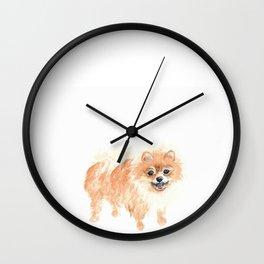 Happy Pom Wall Clock