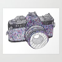 camera Art Prints featuring camera by Dal Sohal