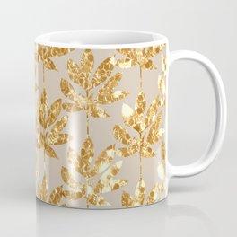Gold leaf pattern Coffee Mug