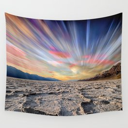 Stopping Time : Colorful Sky Landscape Wall Tapestry