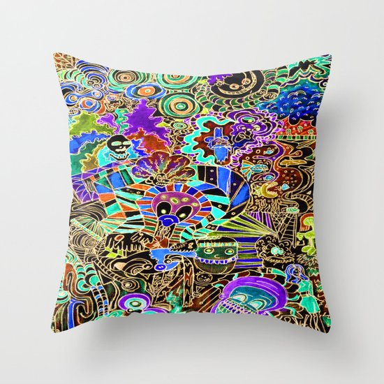 FLIPPIN FUNHOUSE Throw Pillow