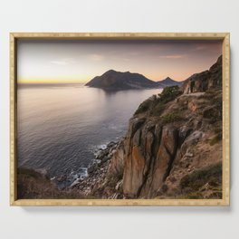 Sunset view from Chapman's Peak drive in Cape Town, South Africa Serving Tray