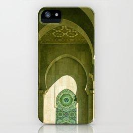 Mosque Hassan II arcade in Casablanca, Morocco iPhone Case