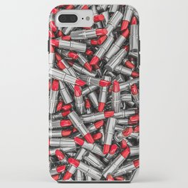 Lipstick chrome / 3D render of red chrome lipsticks iPhone Case