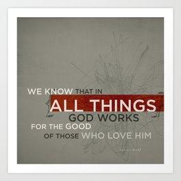 Romans 8:28 Art Print