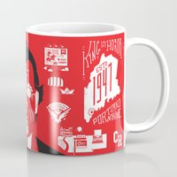 stephen king Mugs featuring Anthology of a King by tim weakland
