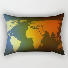 Day and night world map Rectangular Pillow