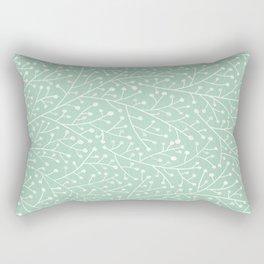 Mint Berry Branches Rectangular Pillow