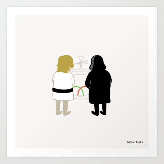 Saber Fight Art Print