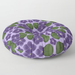 Violets are purple Floral Pattern Blossoms Floor Pillow