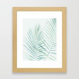 Cool Minty Tropics Framed Art Print