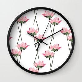Lotos flower patern Wall Clock