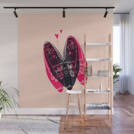moccasin heart Wall Mural