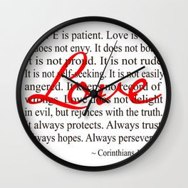 Love is Patient, Love is Kind. Wall Clock
