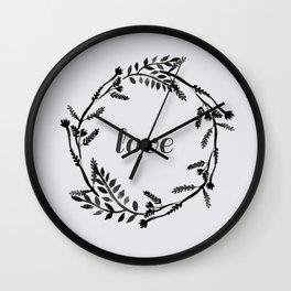 Baesic Mono Floral Love Wall Clock
