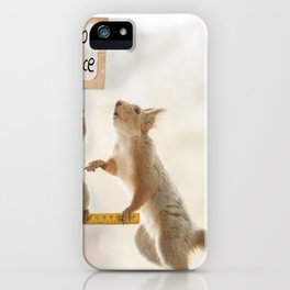 squirrels keeping distance iPhone Case