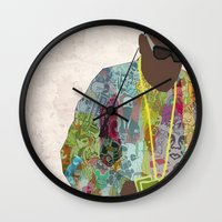 notorious Wall Clocks featuring The Notorious by sens