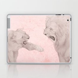 Lion and Lioness Dating Love Couple Walking Laptop & iPad Skin