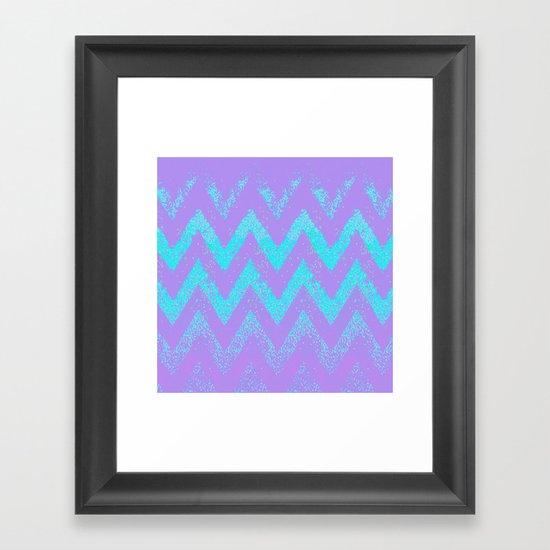 disappearing chevron Framed Art Print