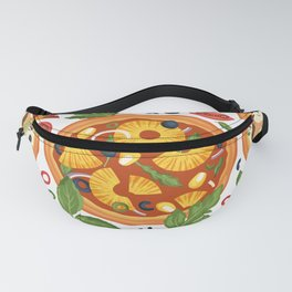 Pizza Lover Party Pattern Fanny Pack