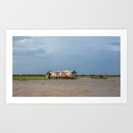Chong Khneas Floating Village XV, Siem Reap, Cambodia Art Print