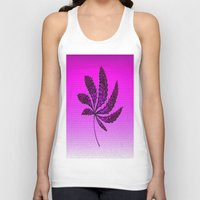 hot pink Tank Tops featuring HOT Pink by Cherie DeBevoise