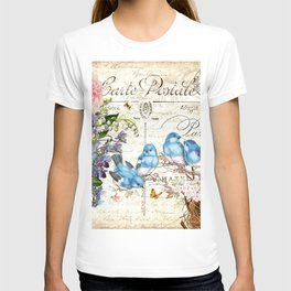 Vintage Postcard with Bluebirds T-shirt