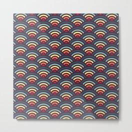 rainbowaves pattern Metal Print