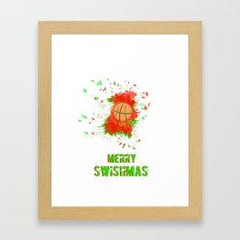 Merry Swishmas Framed Art Print