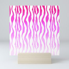 Pink Purple Zebra Stripe Skin Mini Art Print