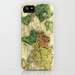 Vintage Map of The World (1823) - Stylized iPhone Case