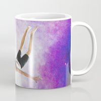 diver Mugs featuring Galaxy Diver by Isabella Bubola