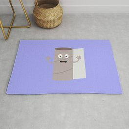 Empty Toilet paper roll with face Rug