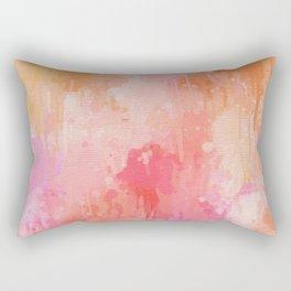 Pink Abstract Rectangular Pillow