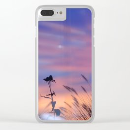 LOOK OUTSIDE - Flowers & Sunset #1 #art #society6 Clear iPhone Case