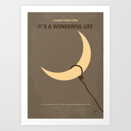 No700 My Its a Wonderful Life minimal movie poster Art Print