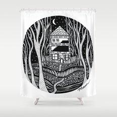 ONE FALL NIGHT Shower Curtain