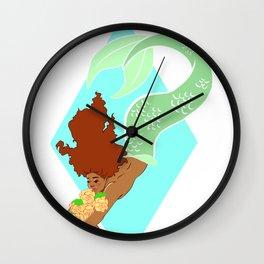 Mermay: Flowers Wall Clock